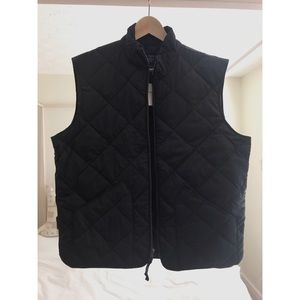 🚫SOLD Men's J Crew Black Quilted Vest